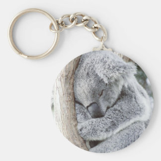Bébé de sommeil de koala porte-clé rond