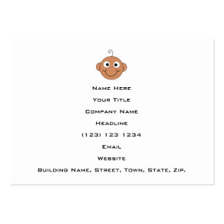 Bébé de sourire mignon carte de visite grand format