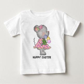 Bébé de T-shirt de souris de Pâques