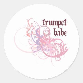 Bébé de trompette autocollant