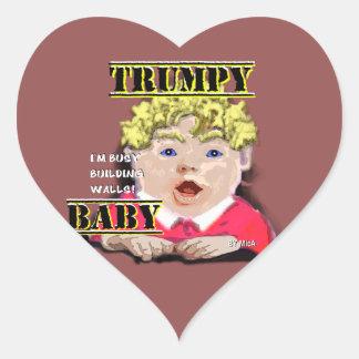 Bébé de Trumpy - autocollants - ½ du coeur 1 dans