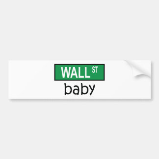 Bébé de WALL STREET - adhésif pour pare-chocs Autocollant De Voiture