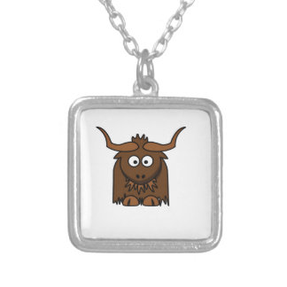 bébé de yaks pendentif carré