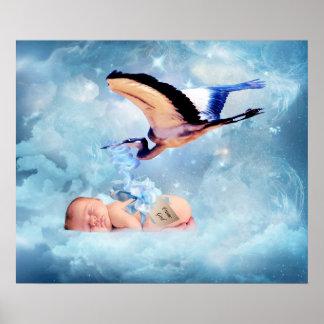 Bébé d'imaginaire et affiche de chambre à coucher posters