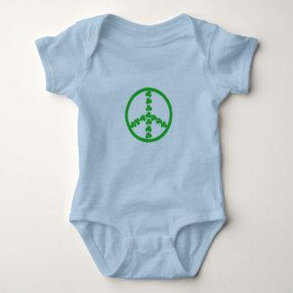 Bébé d'Irlandais de signe de paix Body