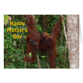 Bébé doux avec le jour de mère heureux de mère carte de vœux