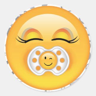 Bébé doux ID231 d'Emoji Sticker Rond