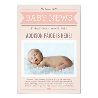 Bébé du faire-part de naissance | de bonnes