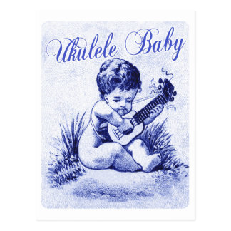 Bébé d'ukulélé carte postale