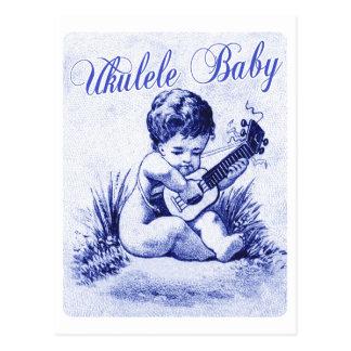 Bébé d'ukulélé cartes postales