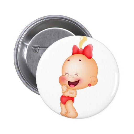 bébé en rouge badge avec épingle