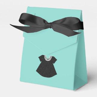 BÉBÉ et Co peu boîtes noires de cadeau de robe Boite Faveurs De Mariage