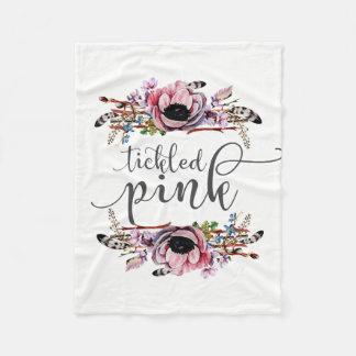 Bébé floral chic chatouillé de guirlande du rose   couverture polaire