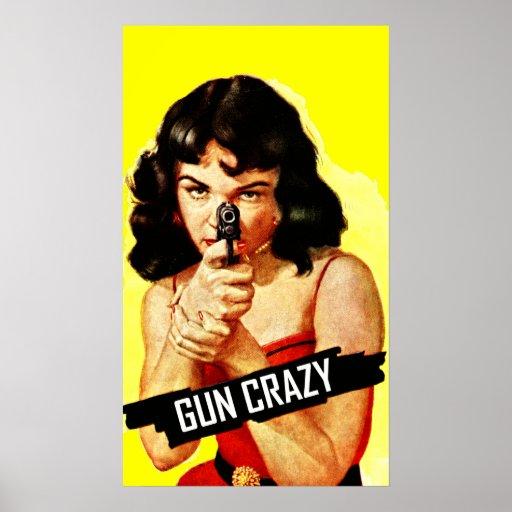 Bébé fou d'arme à feu posters