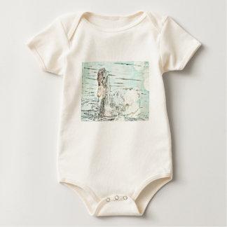 Bébé gravé à l'eau-forte de Goosling de bébé Body