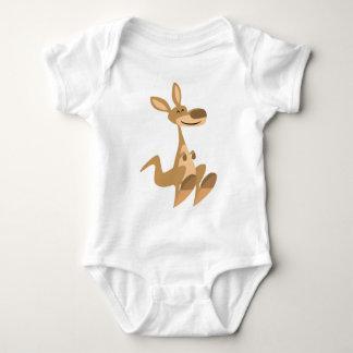 Bébé heureux mignon de kangourou de bande dessinée t-shirt