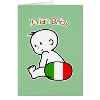 Bébé italien carte de vœux