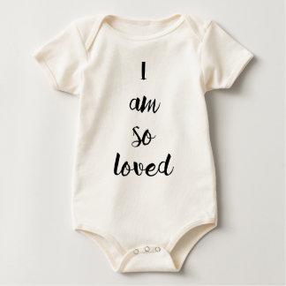 "Bébé ""je suis ainsi aimé "" body"