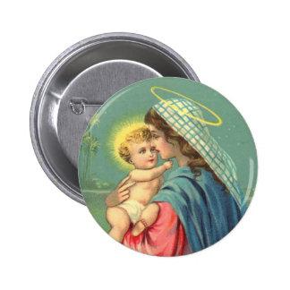 Bébé Jésus et bouton de Vierge Marie Pin's