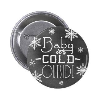Bébé joyeux chic de tableau c'est extérieur froid badge