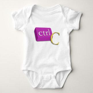 Bébé jumeau nerd 1 d'ordinateur de 2 (CTRL C) T-shirt