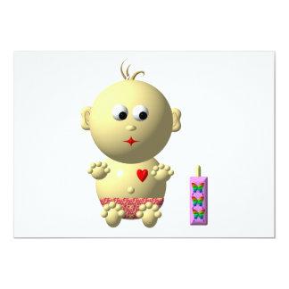 Bébé mignon avec le coeur ! faire-part personnalisables
