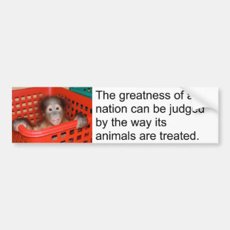 Bébé mignon de citation animale de Gandhi Autocollant De Voiture