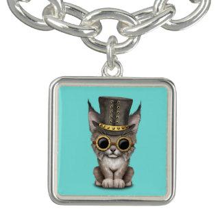 Bébé mignon Lynx CUB de Steampunk Bracelet Avec Breloques