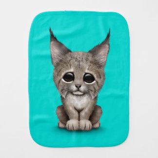 Bébé mignon Lynx CUB sur le bleu Linges De Bébé
