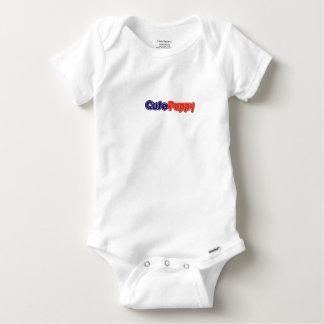 Bébé mignon Onsie de chiot T-shirt