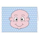 Bébé mignon, sur le modèle de point bleu de polka carte de vœux