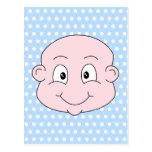 Bébé mignon, sur le modèle de point bleu de polka cartes postales