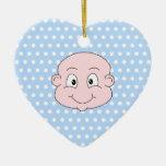 Bébé mignon, sur le modèle de point bleu de polka décoration de noël