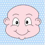 Bébé mignon, sur le modèle de point bleu de polka photo sculptures