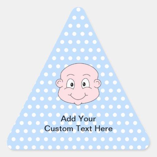 Bébé mignon, sur le modèle de point bleu de polka sticker triangulaire