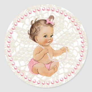 Bébé. Perles et autocollant de dentelle