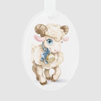 Bébé - premier Noël - agneau