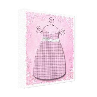 Bébé rose et gris de robe lunatique toile tendue