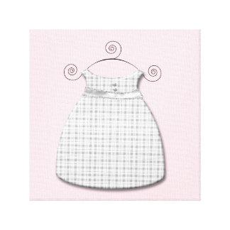 Bébé rose et gris de robe lunatique toile tendue sur châssis