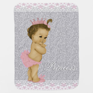 Bébé rose et gris doux couverture de bébé