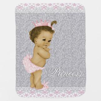 Bébé rose et gris doux couvertures de bébé