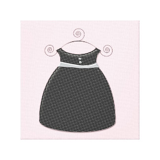 Bébé rose et noir de robe lunatique toile tendue sur châssis