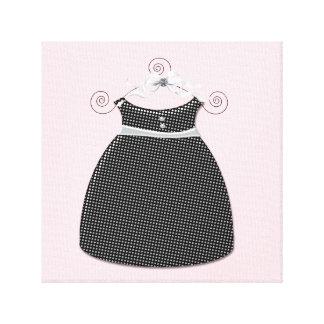 Bébé rose et noir de robe lunatique toiles tendues sur châssis