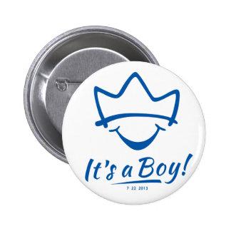 Bébé royal né badge rond 5 cm