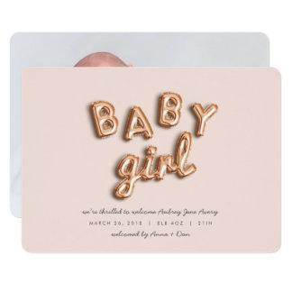 Bébé ! S'est levé gold/PINK Carton D'invitation 12,7 Cm X 17,78 Cm