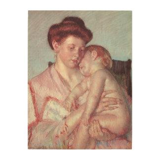 Bébé somnolent par Mary Cassatt impressionisme Canevas En Bois
