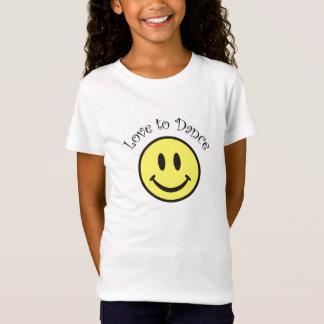Bébé souriant de visage de danse - T-shirt de