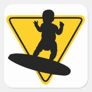 Bébé sur le panneau (de surf) autocollants carrés