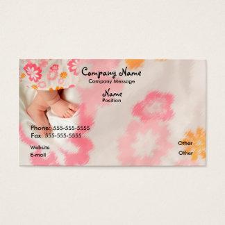Bébé sur le rose cartes de visite