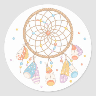 Bébé tribal de Dreamcatcher Boho Sticker Rond